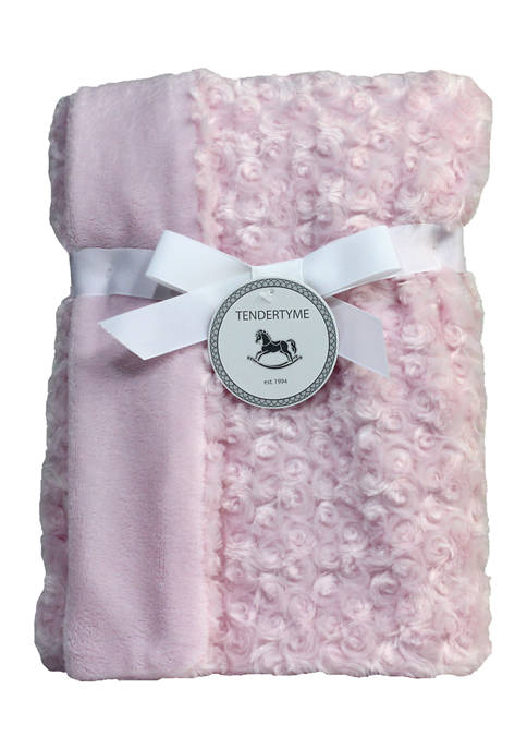 Baby Girls Curly Plush Blanket, Pink