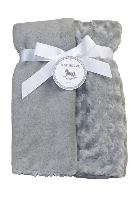 Tendertyme Baby Curly Plush Blanket, Gray