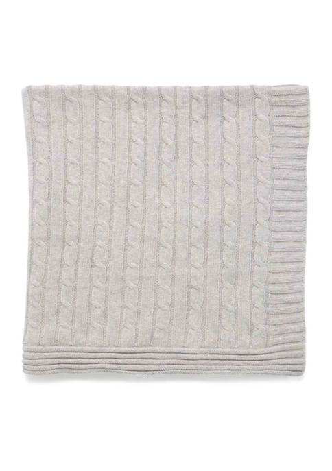 Baby Mode Signature Baby Gray Cable Knit Blanket