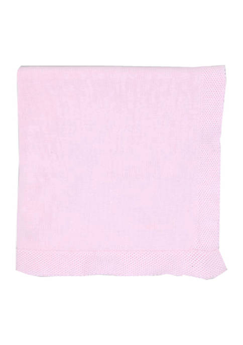 Tots Fifth Avenue Baby Girls Pink Knit Blanket