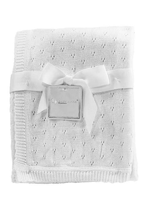 Baby Mode Signature Baby Pointelle Layette Blanket