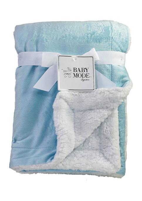 Baby Mode Signature Baby Boys Mink Sherpa Blanket