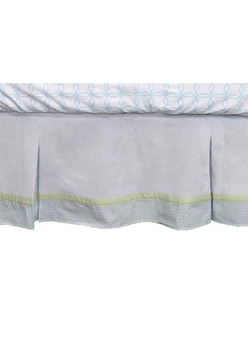 Nurture Baby Boys Blue Corduroy Crib Dust Ruffle