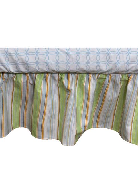 Nurture Baby Boys Neutral Stripe Crib Dust Ruffle