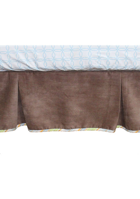Nurture Baby Cocoa Velour Crib Dust Ruffle
