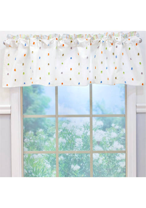 Nurture Baby Nursery Natural Confetti Window Valance