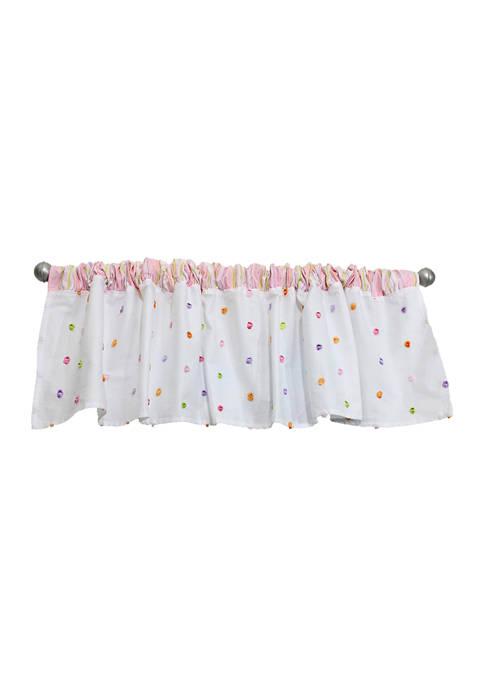 Baby Girls Pink Confetti Window Valance