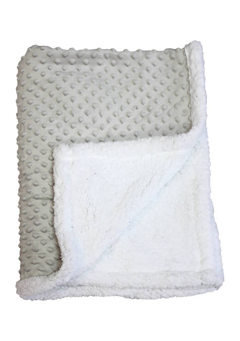 Baby Mode Signature Baby Popcorn Mink Sherpa Blanket,