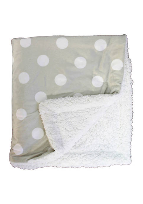 Baby Mode Signature Baby Dotted Mink Sherpa Blanket