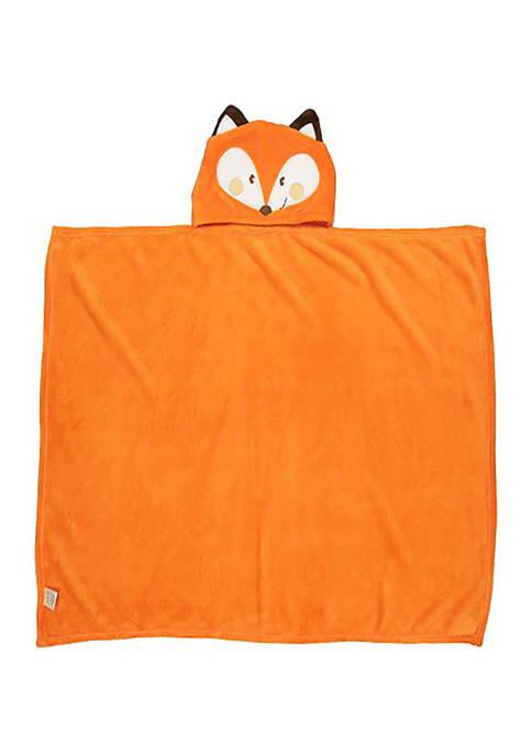 Jesse & Lulu Toddler Plush Fox Hooded Blanket
