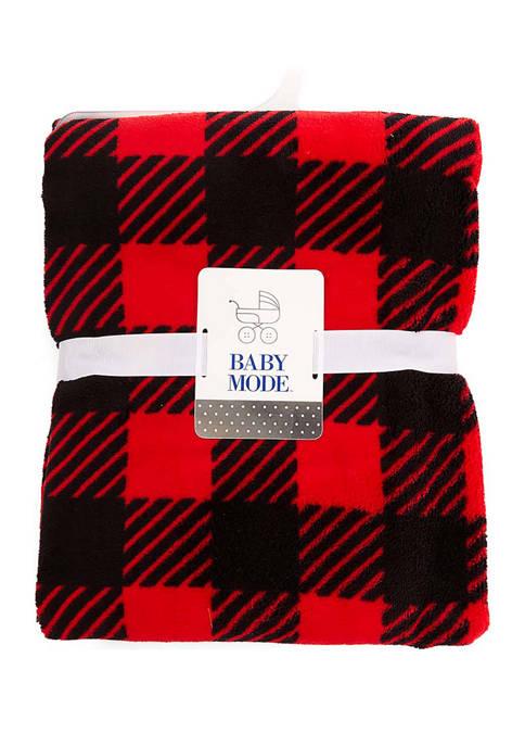 Baby Mode Baby Plush Buffalo Plaid Blanket