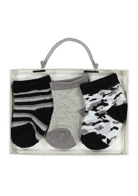 Baby Mode Baby Boys 3 Pack Gray Camo
