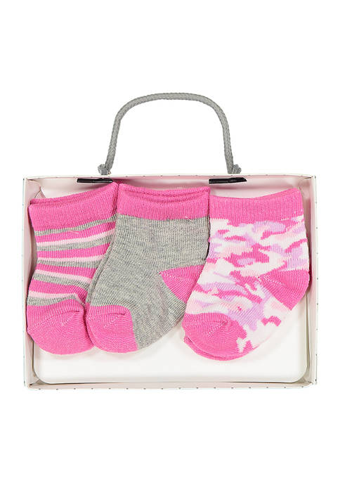 Baby Mode Baby Girls 3 Pack Pink Camo