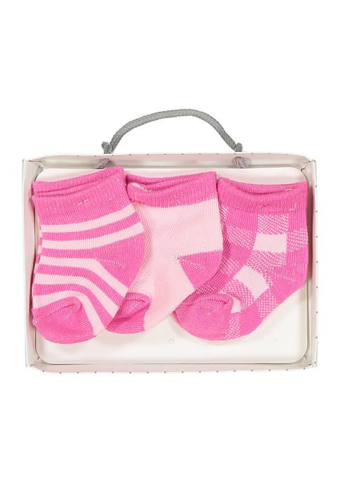 Baby Mode Baby Girls 3 Pack Buffalo Plaid
