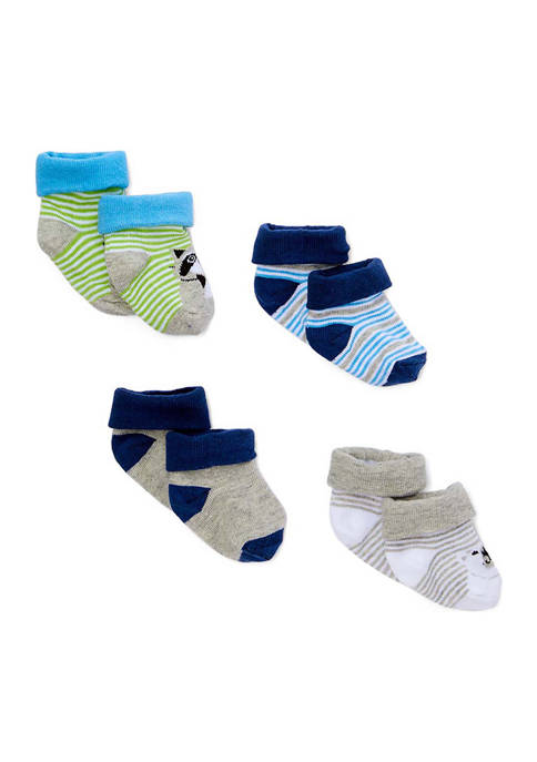 Amor Bebe Baby Boys 4 Piece Socks, Polar