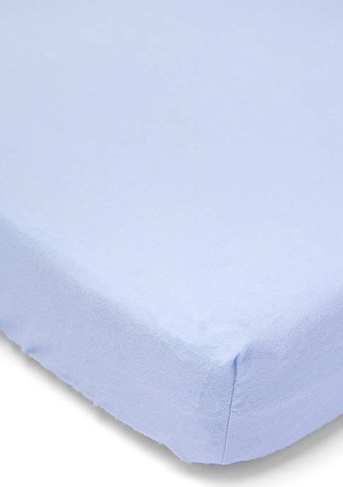 Baby Boys Flannel Solid Crib Sheet - Blue