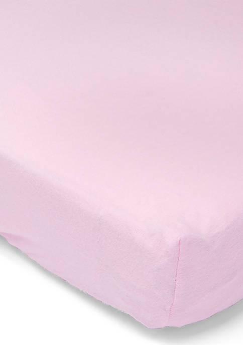 Baby Girls Flannel Solid Crib Sheet - Pink