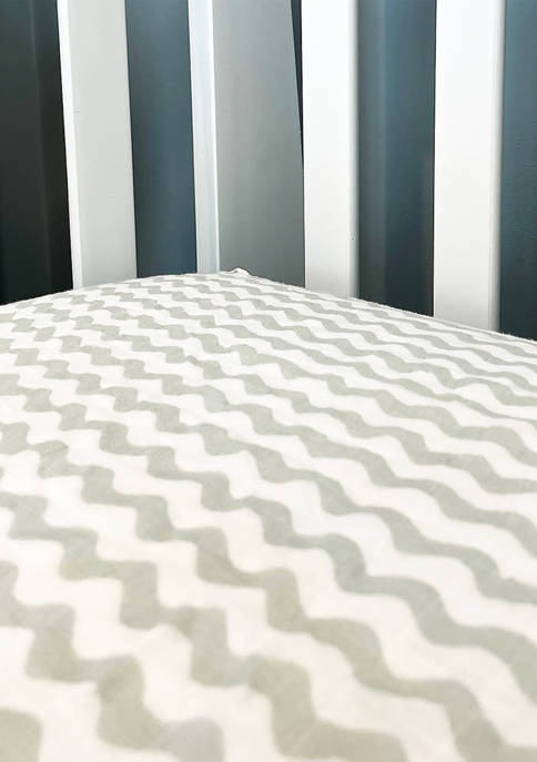 Tendertyme Baby Waves Muslin Crib Sheet