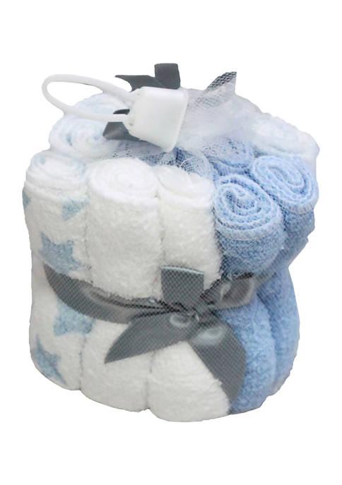 Jesse & Lulu Baby Boys 12 Washcloths Gift