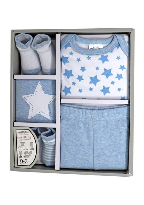 Tendertyme Baby Boys 5 Piece Apparel Gift Set