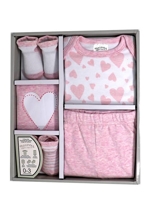 Baby Girls 5 Piece Apparel Gift Set