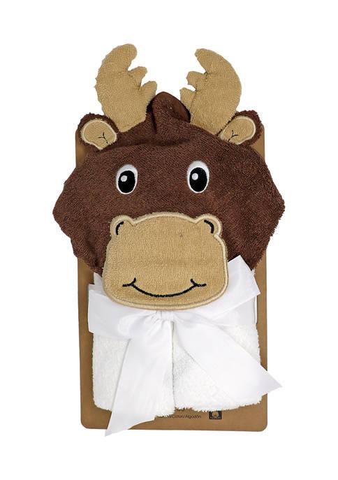 Jesse & Lulu Baby Moose Hooded Bath Towel