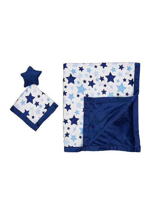 Baby Boys Blanket and Toy Security Blanket Set
