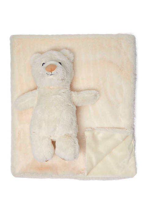 Baby Plush Blanket with Matching Toy