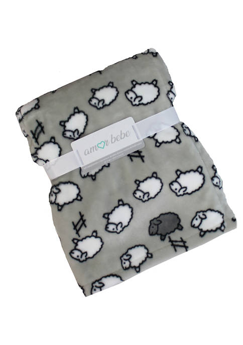 Amor Bebe Baby Counting Sheep Coral Fleece Blanket