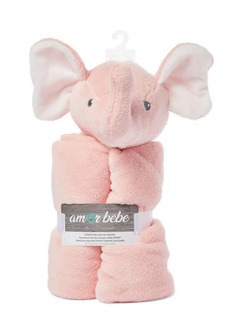 Baby Girls Jumbo Elephant Pink Security Blanket