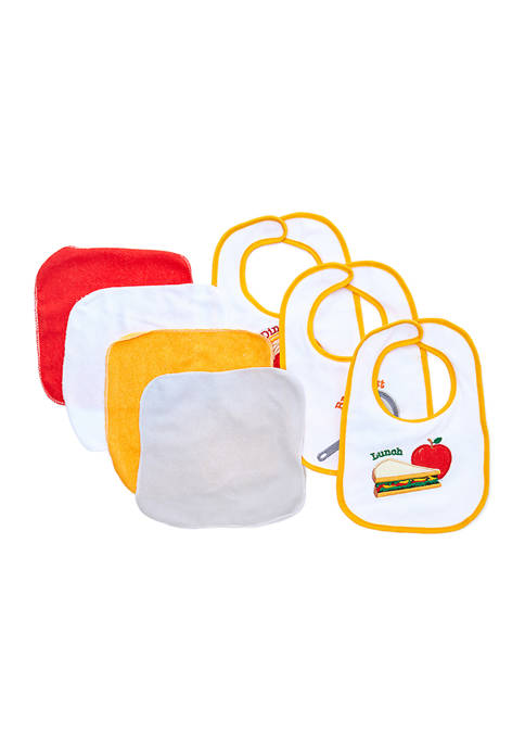 Tendertyme Baby 7 Piece Bib and Washcloth Meal