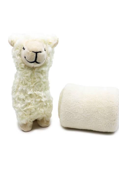 Baby Plush Ivory Llama With Blanket