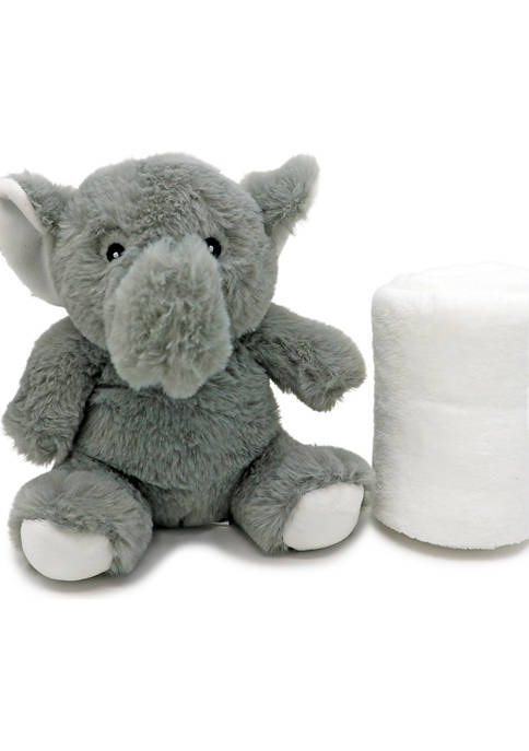 Baby Plush Gray Elephant With Blanket