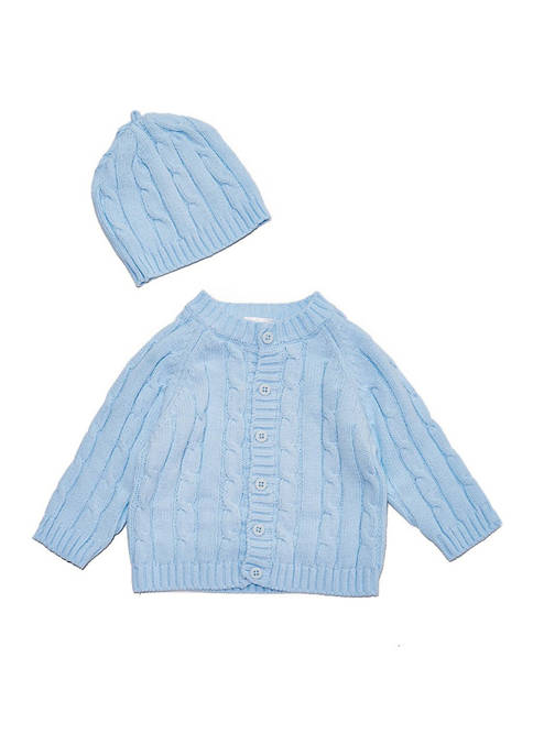 Baby Mode Signature Baby Boys Cable Knit Cardigan