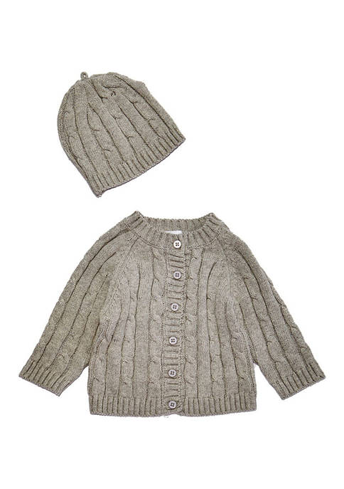 Baby Mode Signature Baby Cable Knit Cardigan with