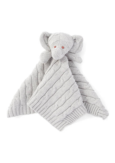 Baby Mode Signature Baby Gray Knit Elephant Security