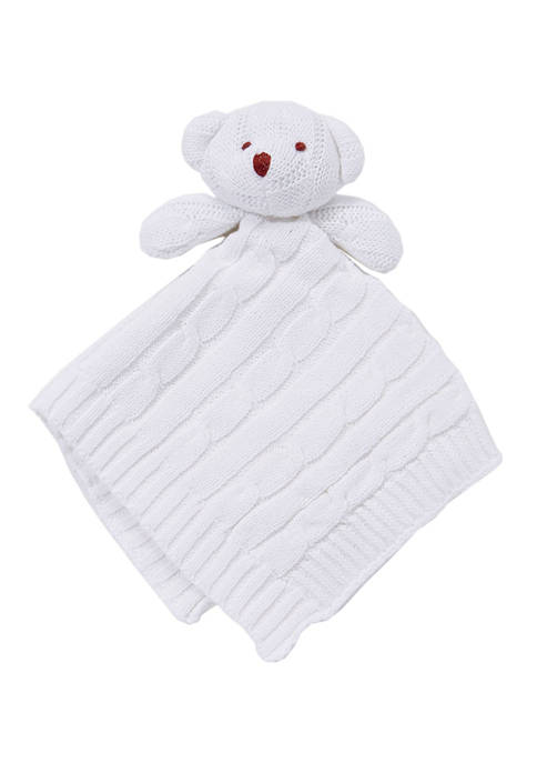 Baby Mode Signature Baby White Knit Bear Security