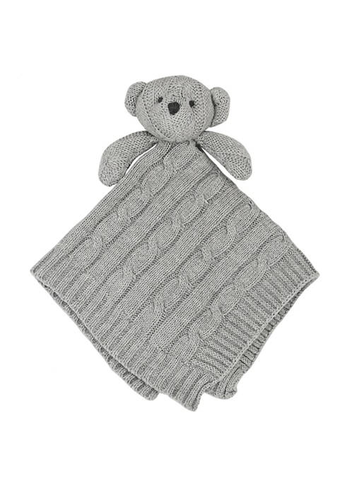 Baby Mode Signature Baby Gray Knit Bear Security