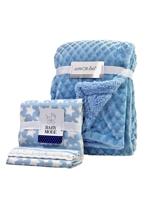 3 Stories Trading Baby Boys 5-Piece Blanket Gift
