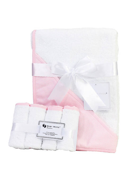 3 Stories Trading Baby Girls Hooded Bath Towel