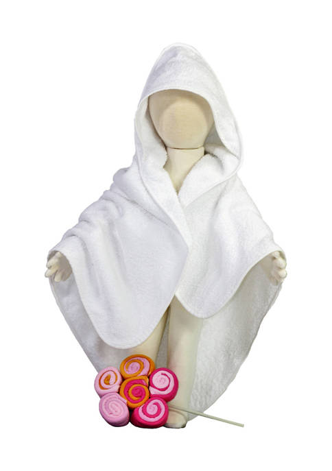 3 Stories Trading Baby Girls Terry Cloth Hooded