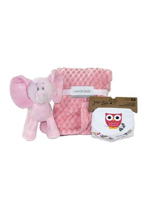 Amor Bebe Baby Girls 5 Piece Plush Elephant
