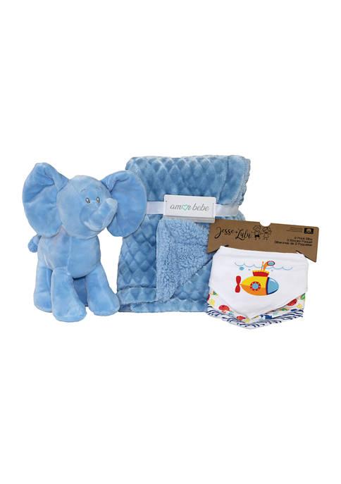 Amor Bebe Baby Boys 5 Piece Plush Elephant