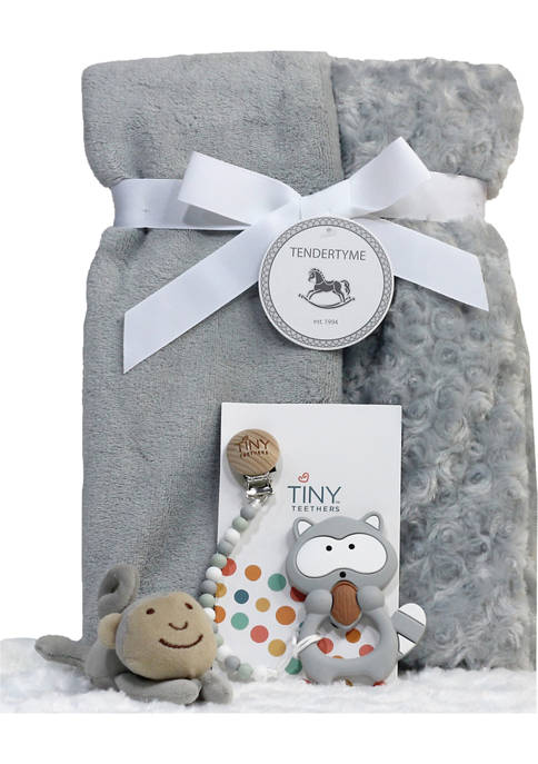 3 Stories Trading Baby Blanket Gift Set with
