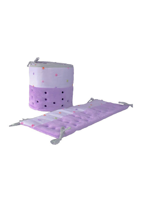 Baby Girls Lilac Confetti Open Air Vented Crib Liner