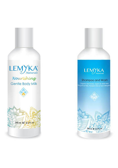 Lemyka Baby 2 Pack Body Milk with Wash