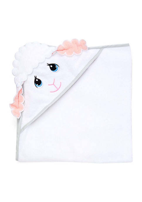 Baby Girls Lamb Hooded Bath Towel