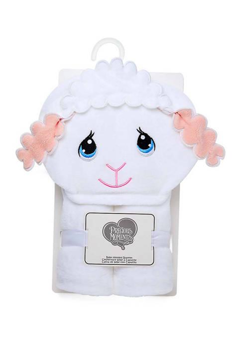 Baby Girls Lamb Hooded Blanket