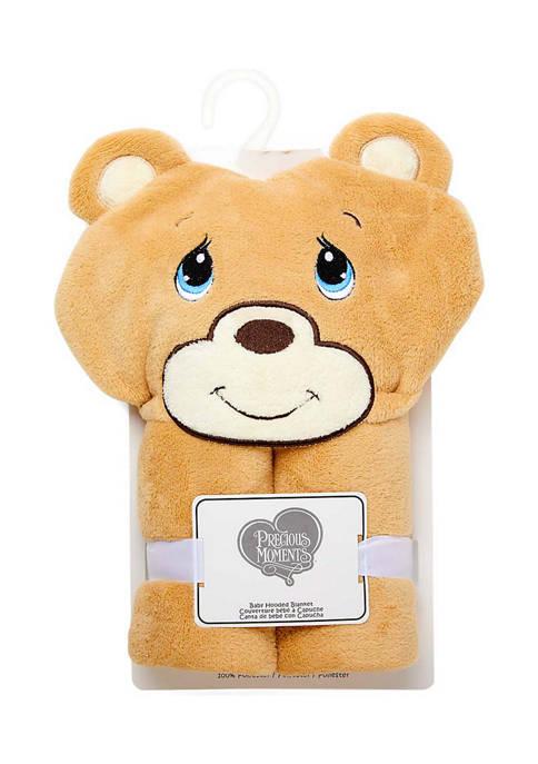Precious Moments Baby Bear Hooded Blanket