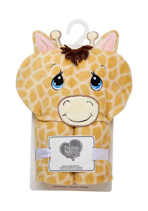 Precious Moments Baby Giraffe Hooded Blanket